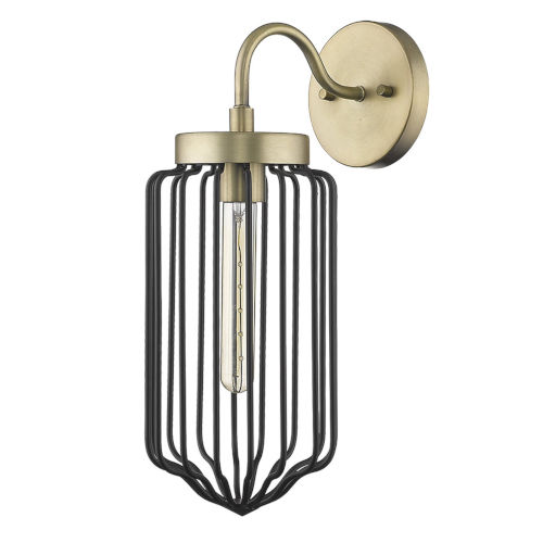 Reece Aged Brass One-Light Wall Sconce