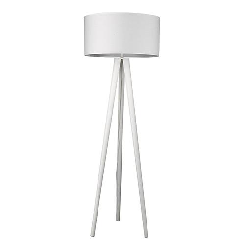 Tourer White One-Light Floor Lamp