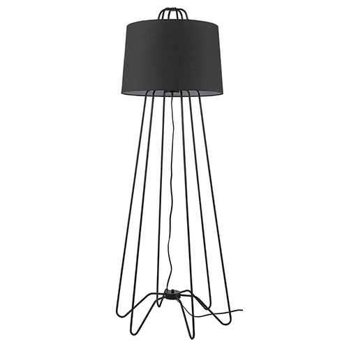 Lamia Matte Black One-Light Floor Lamp