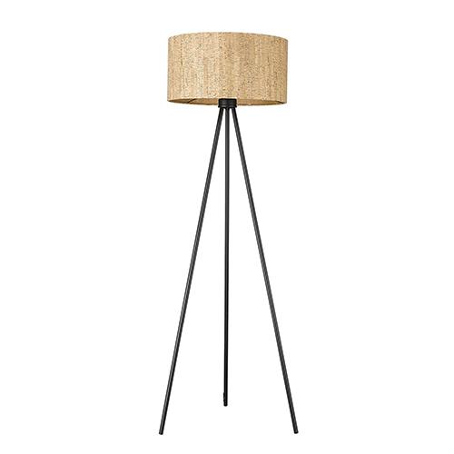 Lisbon Matte Black One-Light Floor Lamp