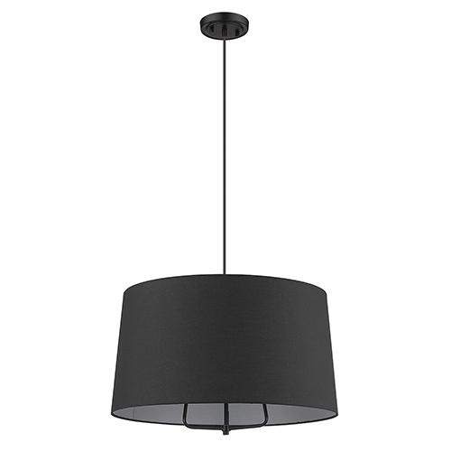 Lamia Matte Black Three-Light Pendant
