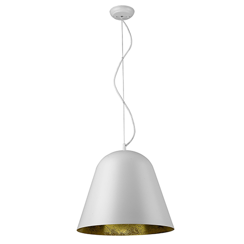 Knell White One-Light Pendant