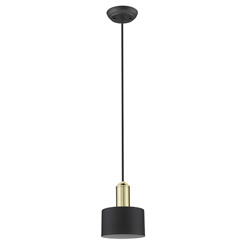 Ingo Matte Black Five-Inch One-Light Mini Pendant