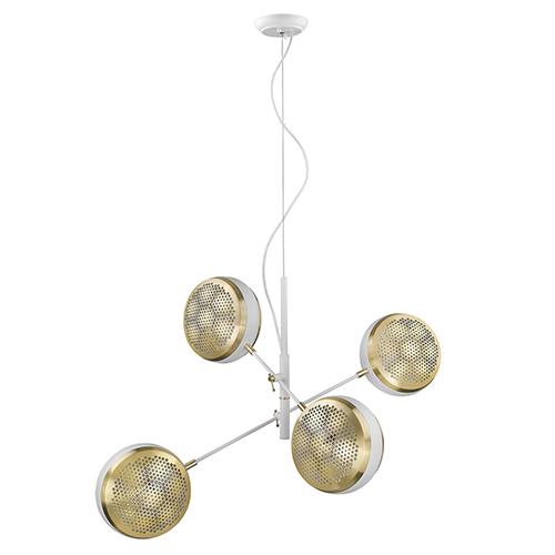 Tholos White Four-Light Pendant