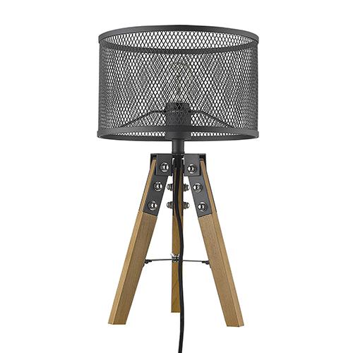 Capprice Matte Black One-Light Table Lamp
