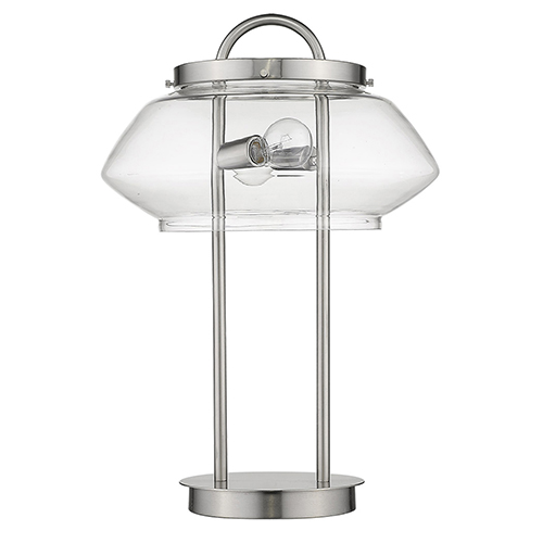 Garner Satin Nickel Two-Light Table Lamp
