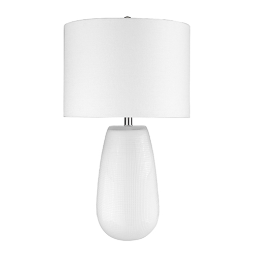Trend Home White 16-Inch One-Light Table Lamp