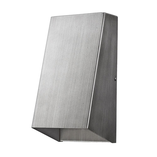 Nolan Matte Nickel 5-Inch One-Light Outdoor Wall Mount