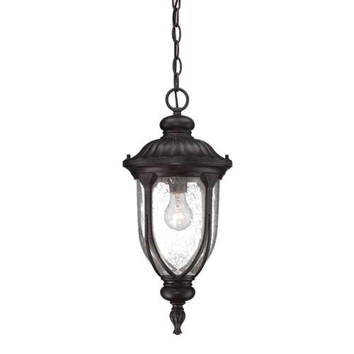 Laurens Black Coral Outdoor Hanging Lantern