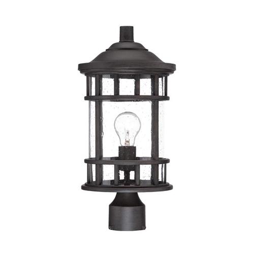 New Vista Black Coral One Light Post Lantern Fixture