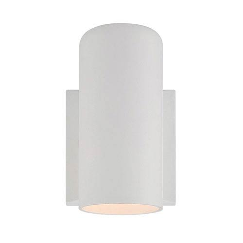 Textured Four-Inch White One-Light Outdoor Wall Mount
