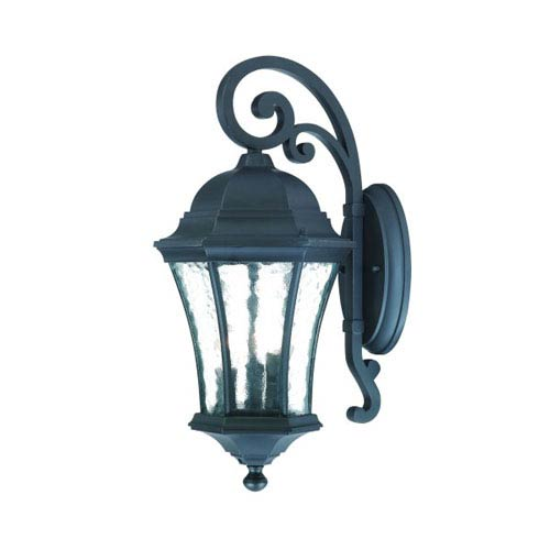 Waverly Matte Black Three-Light 19.5-Inch Outdoor Wall Mount