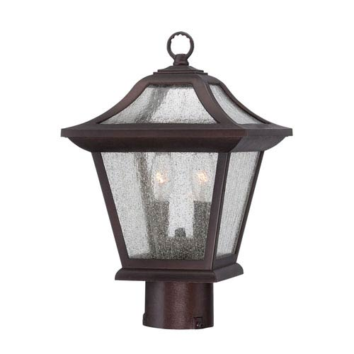 Acclaim Lighting Aiken Architectural Bronze 15-Inch Two-Light Outdoor Post Mount