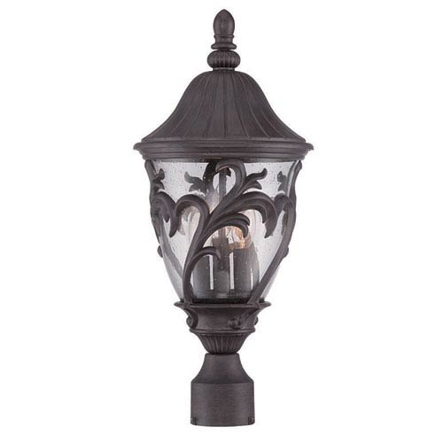 Acclaim Lighting Capri Black Coral 20-Inch Three-Light Outdoor Post Mount