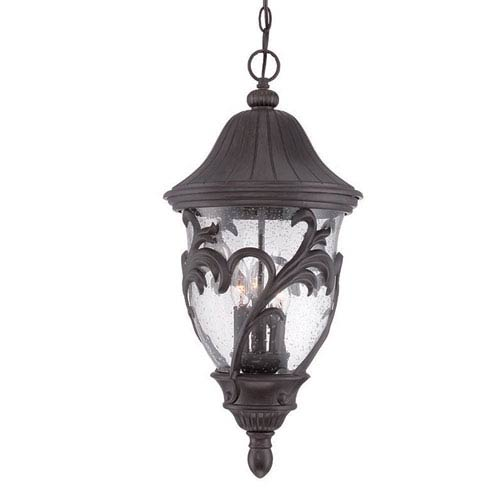 Acclaim Lighting Capri Black Coral 12-Inch Three-Light Outdoor Pendant