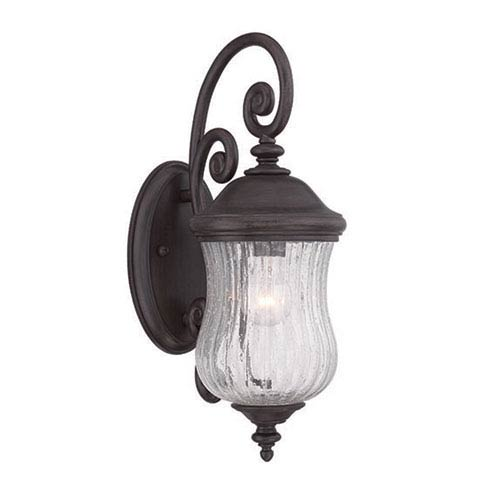 Bellagio Black Coral One-Light Outdoor Wall Mount