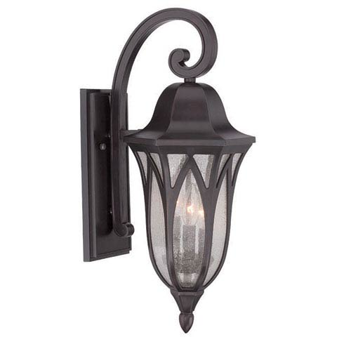 Acclaim Lighting Milano Oil Rubbed Bronze Nine-Inch Three-Light Outdoor Wall Mount