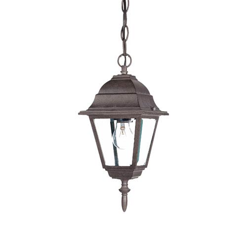 Builders Choice Burled Walnut One-Light Hanging Fixture