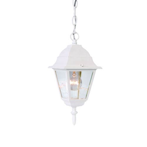 Builders Choice Textured White One-Light Hanging Fixture