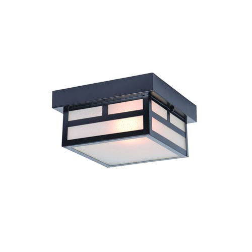 Artisan Matte Black One-Light Outdoor Ceiling Mount