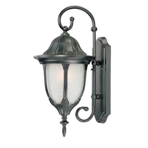 Acclaim Lighting Suffolk Matte Black Medium 20-Inch Wall Lantern with Frosted Glass