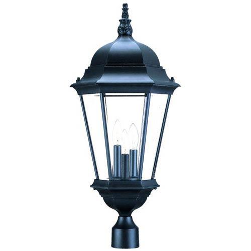 Richmond Matte Black Three-Light 28-Inch Outdoor Post Mount