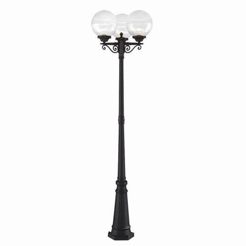 Havana Three-Light Matte Black Post Combination