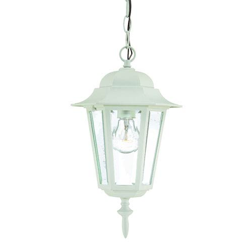 Camelot Textured White One-Light Hanging Fixture