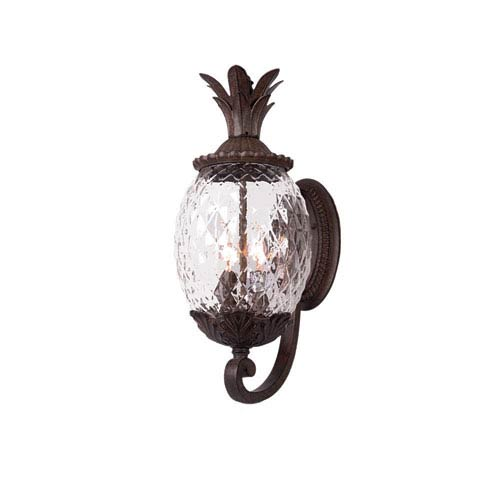 Acclaim Lighting Lanai Black Coral Three-Light 21.75-Inch Outdoor Wall Mount