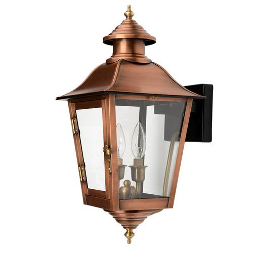 Acclaim Lighting Natchez Copper Patina Nine-Inch Two-Light Outdoor Wall Mount
