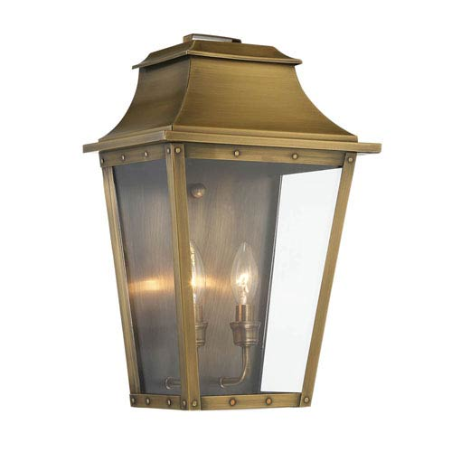 Coventry Aged Brass 17-Inch Two-Light Outdoor Wall Mount
