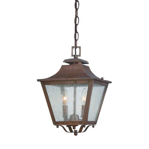 Lafayette Copper Patina Two-Light Outdoor Hanging Lantern