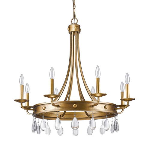 Incroyable Acclaim Lighting Krista Antique Gold Eight Light Chandelier