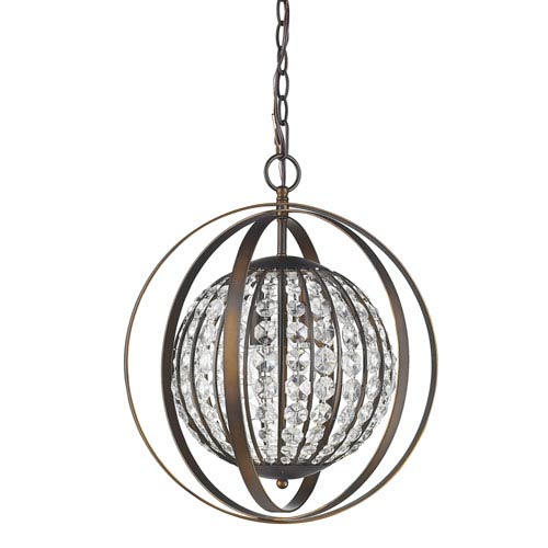 Olivia Oil Rubbed Bronze 16-Inch One-Light Pendant