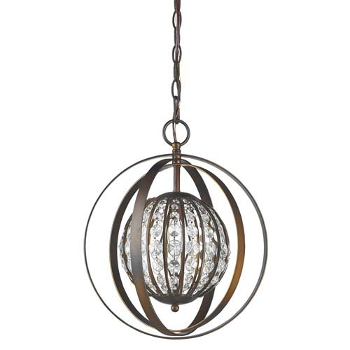 Olivia Oil Rubbed Bronze 13-Inch One-Light Pendant