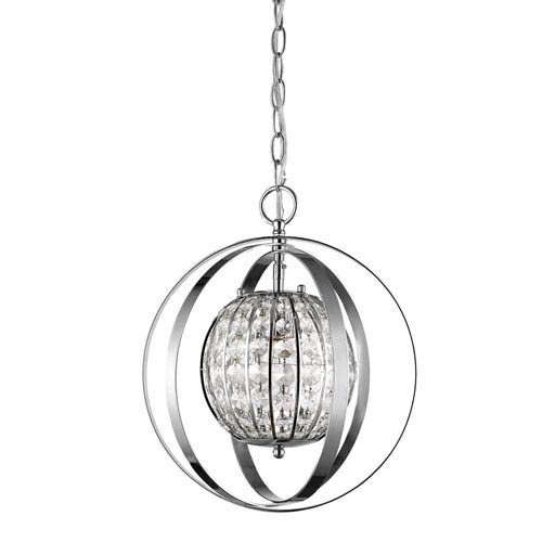 Olivia Polished Nickel 13-Inch One-Light Pendant