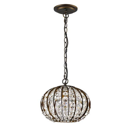 Olivia Oil Rubbed Bronze 10-Inch One-Light Pendant