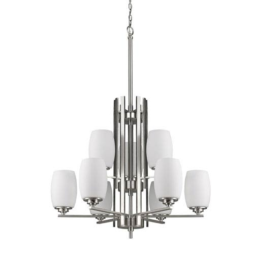 Sophia Satin Nickel Nine-Light Chandelier