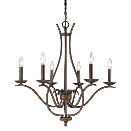 Genevieve Oil Rubbed Bronze Six-Light Chandelier