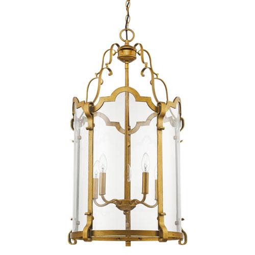 Elizabeth Antique Gold 18-Inch Five-Light Lantern