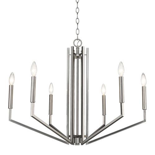 Acclaim Lighting Harper Satin Nickel 30-Inch Six-Light Chandelier