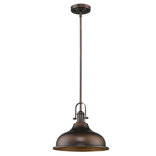 Virginia Oil Rubbed Bronze 14-Inch One-Light Pendant