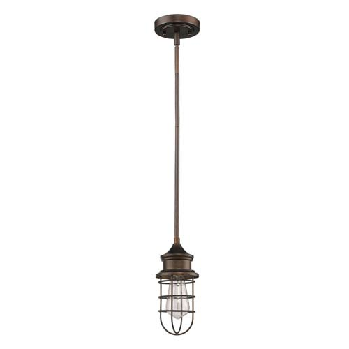 Virginia Oil Rubbed Bronze Five-Inch One-Light Mini Pendant
