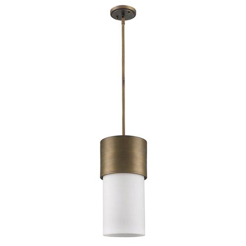 Midtown Raw Brass One-Light Mini Pendant