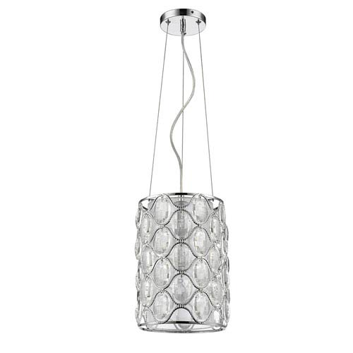 Isabella Polished Nickel One-Light Mini Pendant