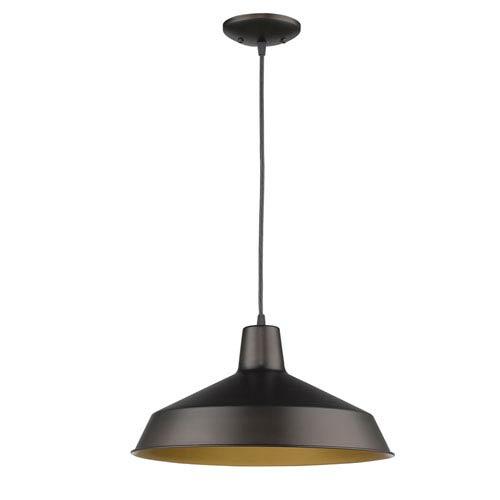 Alcove Oil Rubbed Bronze One-Light Pendant