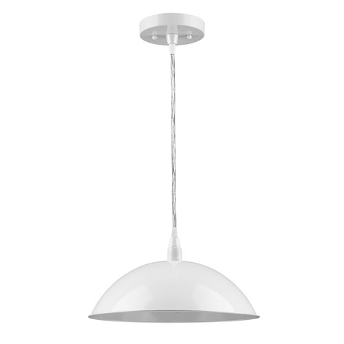 Acclaim Lighting Layla White 12-Inch One-Light Pendant
