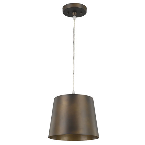 Luna Oil Rubbed Bronze 10-Inch One-Light Mini Pendant