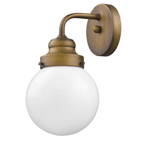Portsmith Raw Brass 6-Inch One-Light Wall Sconce