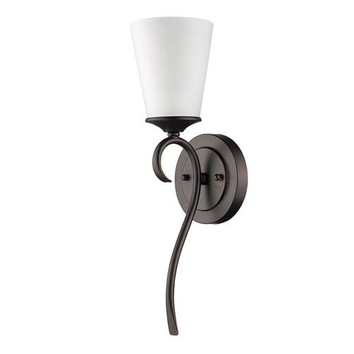 Genevieve Oil Rubbed Bronze One-Light Bath Sconce